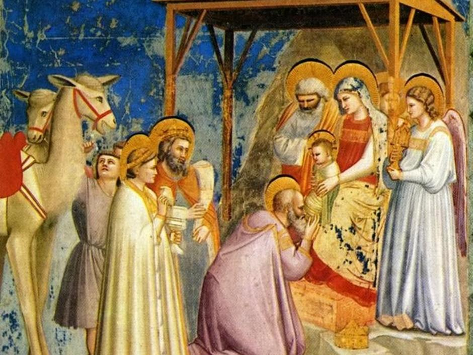 Fresco von Giotto di Bondone (1303), Scrovegni Chapel: Adoration of the Magi