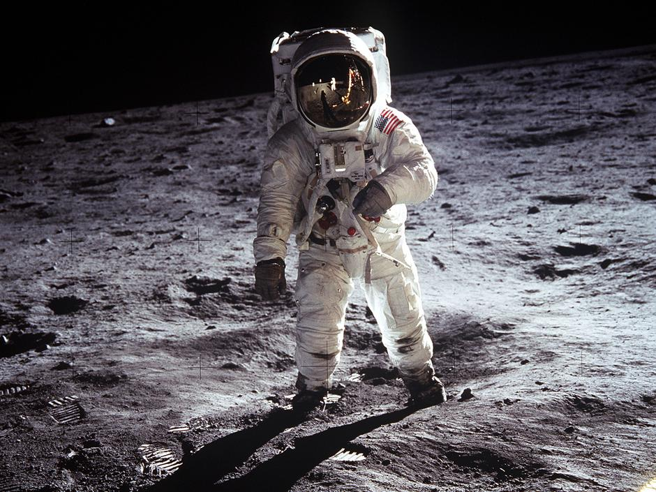 Buzz Aldrin auf dem Mond? (Apollo 11, 1969, NASA)