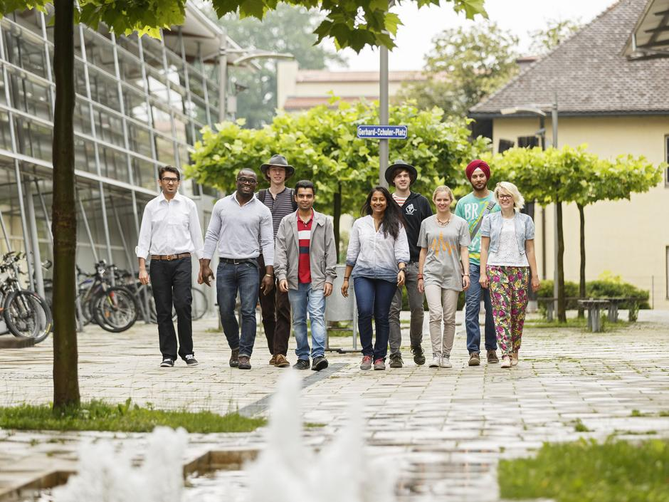 International students at Rosenheim campus